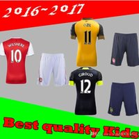 Wholesale Arsenal kids Jerseys kit WILSHERE OZIL WALCOTT RAMSEY ALEXIS home Away rd Top Thai kids Football shirts