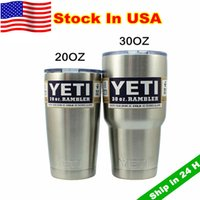 Wholesale Yeti oz Rambler oz Tumbler Bilayer Stainless Steel Insulation Cup OZ Cups Cars Beer Mug Large Capacity Mug Tumblerful Stock In USA