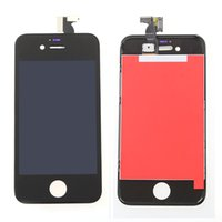 Wholesale Assembly Tracking No White Color For iPhone G LCD Display Touch Screen Digitizer with Bezel Frame Full