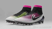 Wholesale Fast shipping Newest Gradient color mens football shoes TPU nail FG ACC Soccer Boots Magista Obra FG ACC outdoor sneakers for mens