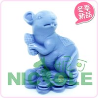 animal soap molds - Mouse animal zodiac peanut candle molds silicone soap mold molds for cakes cake decorating tools kitchen Salt carving
