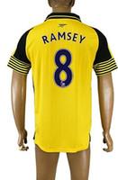 arsenal away shirt - Popular Customized Thai Quality Arsenal away men RAMSEY Soccer Jerseys Shirts Tops NEW men OZIL WILSHERE Soccer Jerseys