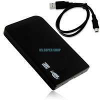 Wholesale Black quot Mini USB SATA HD HDD Hard Disk Drive Enclosure External Case Box EL5013