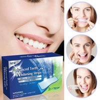 Wholesale 3D Teeth Whitening Strips Whitestrips Tooth Whitener Profession Tooth Whitening Bleaching Advanced Strips Pouches Strips b210