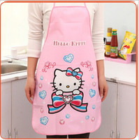 bib offering - 2016 Promotion Special Offer Apron Kit Bib Apron Cartoon Long Sleeve Cuff Waterproof Aprons Gowns Suits For Men And Women