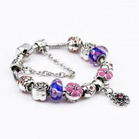 bb beads - Hug Me Women Beaded Strands Jewelry Big hole Beaded Bracelet Panpe Dora glass bead jewelry boutique explosion BB