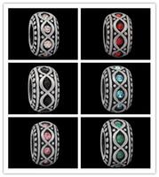 Wholesale Hot Sale Mix color vintage Big Hole Stainless steel Charms Beads Fit European Bracelets sorority bracelets Fit pandora Jewelry