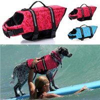 aquatic swimming - New Fashion Dog Pet Float Life Vest Jacket Aquatic Safety Saver Swimming Boating Clothes Pet Swimming Preserver