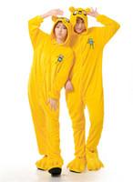 adventure time pajamas - Nightgown Jake Adventure Time Cosplay Animal Onesies Pajamas Anime Lovers Sleepwear Set Adventure Time Jake Costume