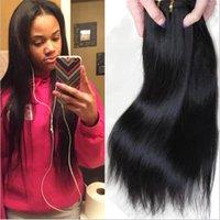 Wholesale Cheap Hair Weave Free Shipping - Cheap Hair! 6bundles lot 100% Brazilian Silky Straight Human Hair Weave Natural Color Hair Extensions Free Shipping