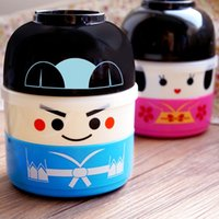 Wholesale Hakoya Geisha Doll Kawaii Cute Japanese Bento Lunch Box for Kids Picnic School Food Container Bowls Lunchbox Plastic Food Box