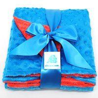baby blankets cheap - Newborn Gifts Polyester Colors in Stock Custom Size Security Cheap Minky Baby Blanket