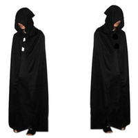 Wholesale Death Cloak Cosplay Ghost Clothes Multi Cape Hooded Cloaks Halloween Costume For Adult Costumes Vampire Cape Cosplay fantasias cm b520