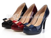 Pumps red wedges shoes - High quality high heeled shoes fashion Sexy stiletto Party thin heels princess sexy brand fashion women pumps patent leather shoes