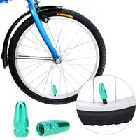 Wholesale 2pcs Bicycle Valve Caps Aluminium Alloy MTB Road Bike Presta Valve Mouth Cover Tyre Valve Cap Wheel Rims Stem Air