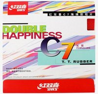 best happiness - DHS table tennis ball C7 Long Pips Out Rubber Double happiness LONG PIMPLES pipong rubber BEST