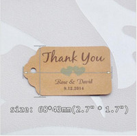 Wholesale fashion personalized thank you wedding tags with colors heart you can choose paper wedding favor tags Personalized Gift Tags