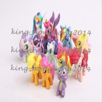 Wholesale 2016 Big discount My Little Pony Cake Toppers Doll PVC Action Figures Toys Colourful set cm kids gifts