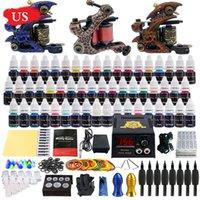 Cheap US SHIPPING! Solong Tattoo Complete Tattoo Kit 3 Tattoo Machine Guns 54 Inks Power Supply Needle Grips TK353US