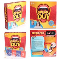 Wholesale Speak Game Mouth Game Hasbro Speak Out Game KTV Party Game Newest Best Selling Toy Christmas Gift