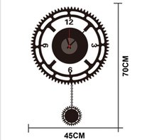 Wholesale ZY822 new design Removable DIY Clock Artistic Wall Hanging Clocks Mechanism Wall Sticker zy822