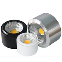 aluminum pannel - Dimmable LED COB downlights round with led driver led ceiling lights down lights led pannel light spotlights led bulbs lamp AC85 V