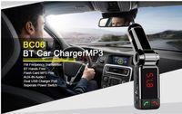 Wholesale Hot Sale BC06 bluetooth car charger BT car charger MP3 BC06 mp3 MP4 player mini dual port AUX FM transmitter