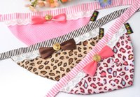 basic butterfly - 10pcs New pet dog slobber triangle towel High quality triangle sweet leopard butterfly knot jewelry mixed batch pet collar