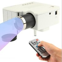 av online - Factory Online UC28 Projector Mini LED Portable Theater Video Projector PC Laptop VGA USB SD AV with Retail Package