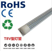 Wholesale 4ft1200mm ft1500mm ft1800mm ft2400mm V Shaped K Door Led Tubes T8 Integrated Led Double Sides SMD2835 Led Fluorescent Lights V