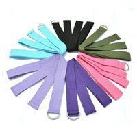 Wholesale New Arrival Yoga Stretch Strap D Ring Belt Waist Leg Fitness CM Adjustable With Different Color