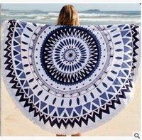 Wholesale Hot round beach towel printed beach towel cm beach fringed shawl round cotton summer beach towels DHL freeshipping