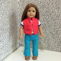 Wholesale Winter Outfits for inch American Girl Doll T shirt Vest Pants cm Doll Clothes