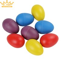 Wholesale Plastic x Eggs Shakers Rattle Rustling Percussion Musical Toy for KTV Party Kids Games