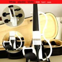 Wholesale High quality violin Send violin Hard case Handmade white electric violin with power lines