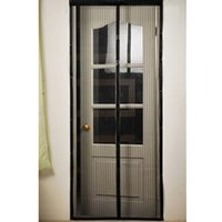 Wholesale curtain mesh Good Use Screen Door Curtain Magic Mesh Hands Net Magnetic Anti Mosquito Bug Divider Curtain