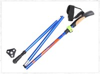 Cheap Long straight handle aerospace grade aluminum sticks Aluminum alloy outer lock hiking with his walking stick