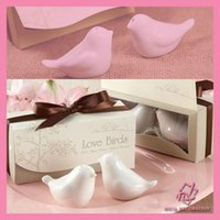 Wholesale DHL Love bird salt and pepper Shaker wedding favors gifts SET