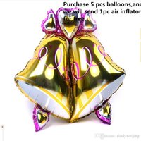 balloons inflated - Bell Ball Inflate Foil Balloon x81cm Aluminium Film Cartoon Funny Toy Gift Bell Ball Christmas Party Supplies