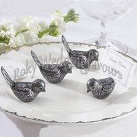antique table sets - Antique Bird Place Card Holder Wedding Table Decoration with Paper Card Party Setting Ideas