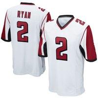 big footballs - 2016 Elite new football jerseys Matt Ryan Player Jersey Embroidery White Black Red jerseys Big order for DHL