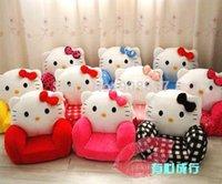 Wholesale 2014 new polka dot printed hello kitty shaped children chairs sofa for kids girls boys Christmas gift dismountable shell to wash