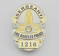 Wholesale The Losangeles police badge LAPD SERGEANT Badge
