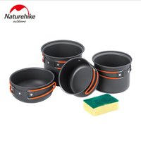 Wholesale Outdoor Portable Cookware Cooking Set Non stick Pot Bowl SET Outdoor Camping Hiking Backpacking Cooking Picnic Bowl Pot