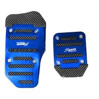 Wholesale Blue Aluminum Series Pieces Red Non Slip Car Pedal Cover Set Kit