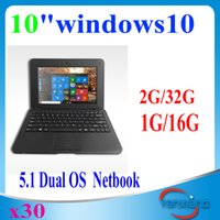 android os netbook - 30pcs inch Netbook with Windows Android Dual OS WIFI HDMI Output laptop notebook2016 inch YX BJ