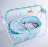 Wholesale Multifunctional electric cradle for baby crib intelligent portable folding electric music cradle