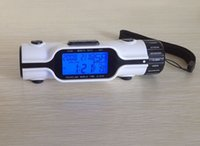 Wholesale GANXIN Hot sell white model Multifunctional Portable Flashlight with LED Backlight world time calendar travel clock