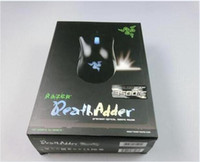 Wholesale New Razer Death Adder Mouse DPI Competitive Games Optical mouse for Game Computer Mouse With retail packing free epacket