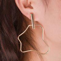 Wholesale Irregular Cutout Skinny Metal Circle Stick Earring Stud Concise Simple Geometry Punk Style OEM ODM DHL Mininum USD50